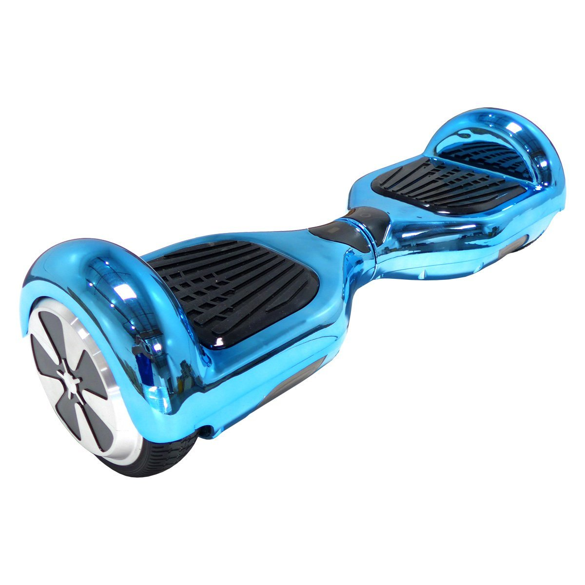BeamBaa Shiny Electroplated Chrome Blue Self Balancing Scooter