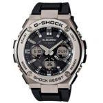 Casio G-Shock G-Steel Smoke Dial SS Resin Chrono Quartz Men's Watch GSTS110-1A