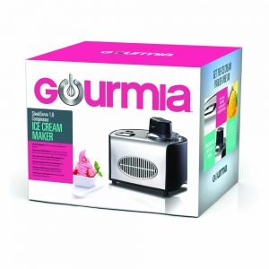 Gourmia GSI200 Stainless Steel 1.6 Qt Automatic Ice Cream Maker