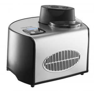 Gourmia GSI200 Stainless Steel 1.6 Qt SleekServe Automatic Ice Cream Maker