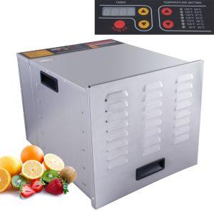 DELLA Commercial 1200W 10-Tray Food Dehydrator