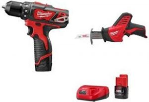 Milwaukee 2493-22 M12 12-volt 3:8 In. Lithium-ion Cordless Drill:driver Hackzall Combo Kit