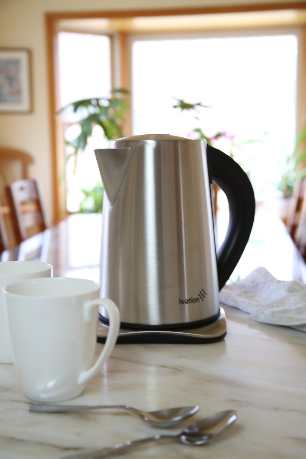 Ivation 1.7 Liter(7-Cup) Precision-Temp Stainless Steel Cordless Electric Tea Kettle IV-DEK171SS