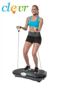 Clevr Ultraslim Black Crazy Fit Full Body Vibration Platform