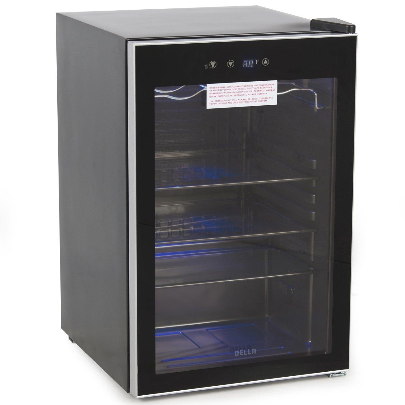 DELLA Beverage Wine Cooler Mini Refrigerator