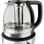 KitchenAid KEK1322SS 1.5L Electric Glass Tea Kettle - Stainless Steel