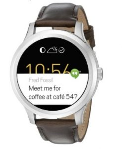 Fossil Q Founder Gen 1 Touch Brown Leather Smartwatch