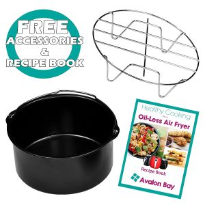 Avalon Bay AB-AIRFRYER220SS Digital Air Fryer accessories