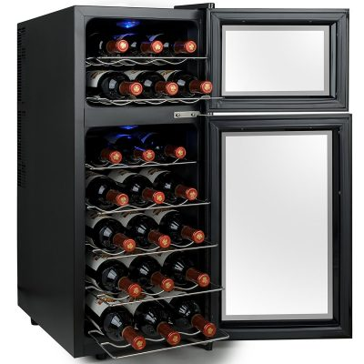 Firebird 21 Bottles Dual Zone Black Finish Touch Control Panel