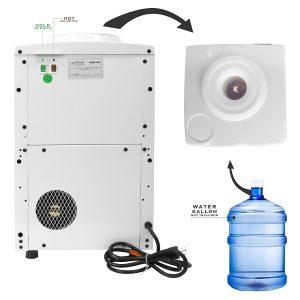 Nutrichef PKTWC10WT Countertop Water Cooler Dispenser