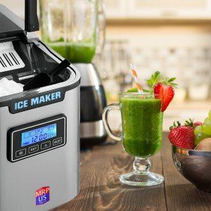 MRP US Portable Ice Maker Stainless Steel Ice Machine ICE702
