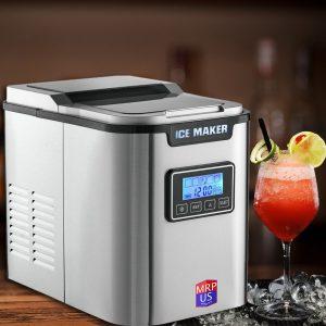 MRP US Portable Ice Maker Stainless Steel Ice Maker ICE702