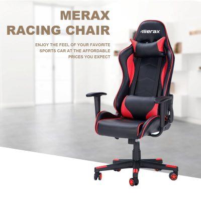 Merax Racing Style Gaming Chair Ergonomic Design High- Back PU Leather Chair