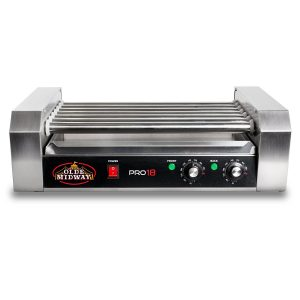 Olde Midway Commercial 18 Hot Dog 7 Roller Grill Cooker Machine