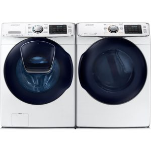 Samsung Mega Capacity Steam HE Front Load Laundry System with Innovative Add-A-Wash Door and GAS Dryer
