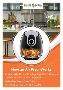 Simple Living SL-AF-01 5L Air Fryer