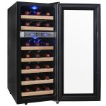 AKDY WC0021 21 Bottle Dual Zone Thermoelectric Freestanding Wine Cooler