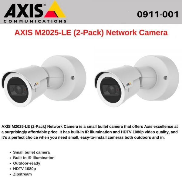 AXIS M2025-LE (2-Pack) Network Camera