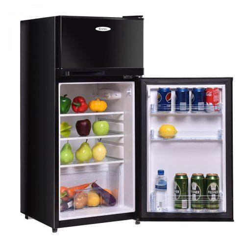 Costway 3.4 cu. ft. 2 Door Compact Mini Refrigerator