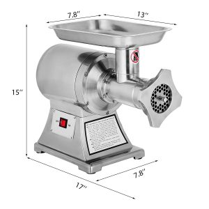 HappyBuy 1.5HP and 1100W Meat Grinder Stainless Steel 220 RPM Electric Meat Grinder Sausage Stuffer