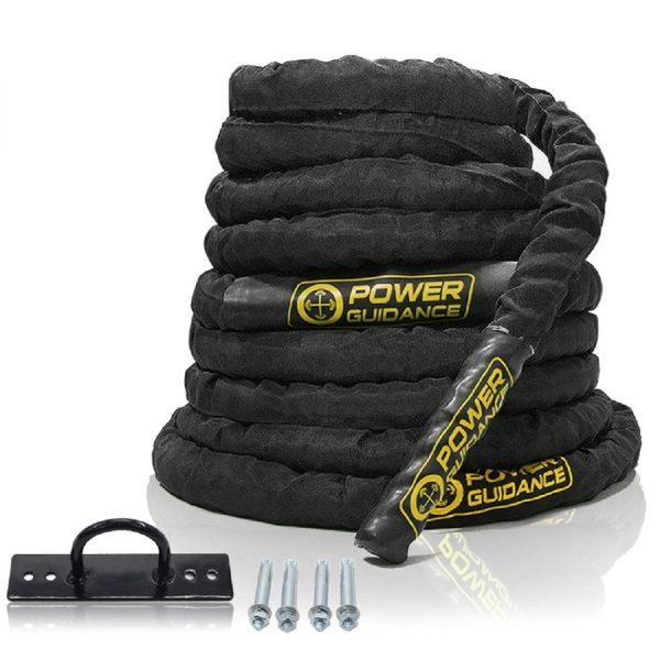 POWER GUIDANCE Battle Rope - 1.5 Width Poly Dacron 30:40:50ft Length Exercise Undulation Ropes