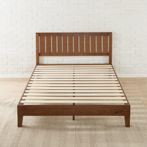 Zinus 12 Inch Deluxe Solid Wood Platform Bed With