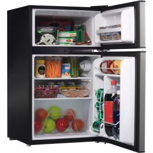 Galanz GZ 2 Door Stainless Steel Dorm Size Refrigerator