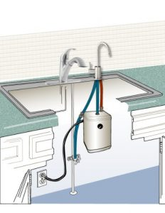 Ready Hot RH-200-F560-BN Stainless Steel Hot Water Dispenser