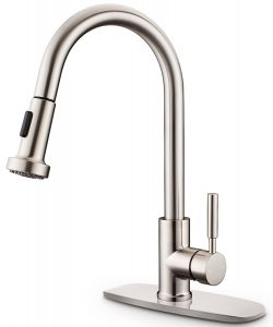 Sarissa HK002 a pull-down one-handle brass kitchen sink faucet