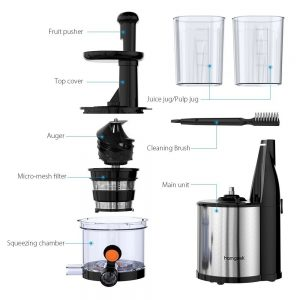 Homgeek Masticating Juicer