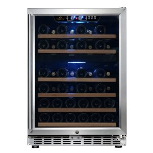 KingsBottle KBUSF54D 24 Dual Zone Under Counter Built-in Wine Cooler