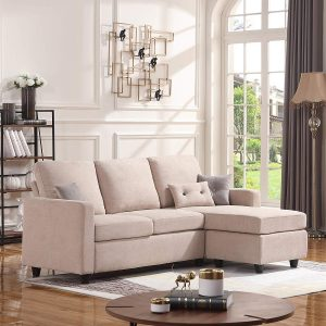 HONBAY L-Shaped Convertible Sectional Sofa Couch