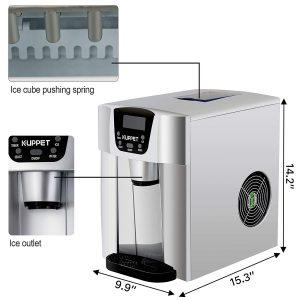 KUPPET 2 in 1 Countertop Ice Maker Water Dispenser