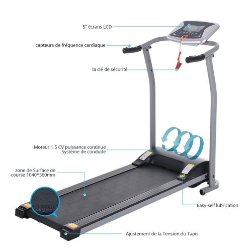Miageek Fitness Folding Electric Jogging Treadmill
