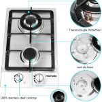 "HBHOB 12"" Gas Cooktop High Gas Stove"