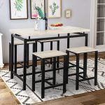 Rockjame 5 Piece Counter Height Dining Pub Table Set