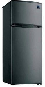 R.C.A 7.5 Cubic Foot Stainless Steel Look Refrigerator