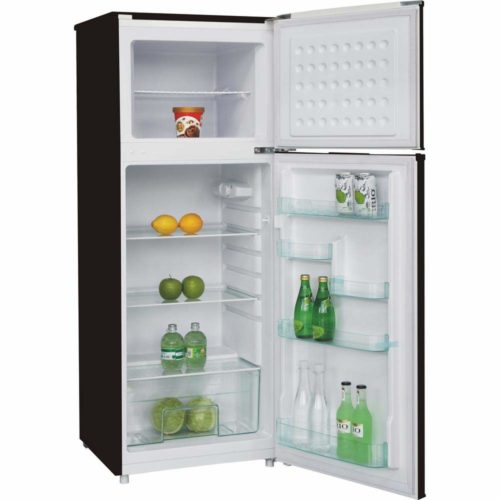 RCA 7.5 Cubic Foot Stainless Steel Look Refrigerator Interior
