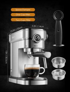 Brewsly 15 Bar Espresso Coffee Machine
