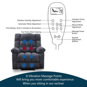 CANMOV Power Lift Recliner Chair for Elderly Massage Heat