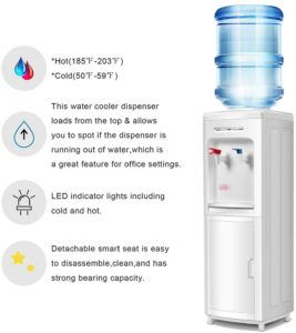 Safeplus Top Loading Water Cooler Dispenser