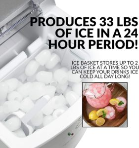 Igloo ICEB33SL 33-Pound Automatic Portable Countertop Ice Maker Machine
