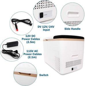 CooLife Car Freezer 29 Qt, AC DC Compressor Travel Cooler