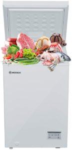 MOOSOO 3.5 Cubic Feet Chest Freezer