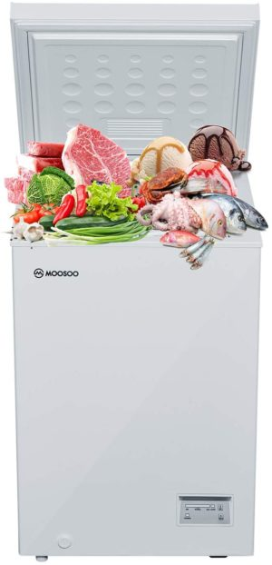MOOSOO 3.5 Cubic Feet Chest Freezer