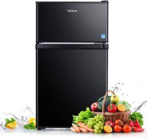 Tacklife 3.1 cu. ft. 2 Door Compact Fridge Freezer