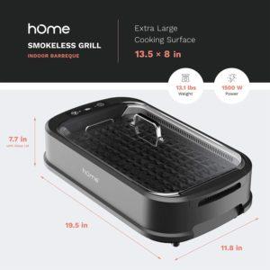 hOmeLabs Smokeless Indoor Grill
