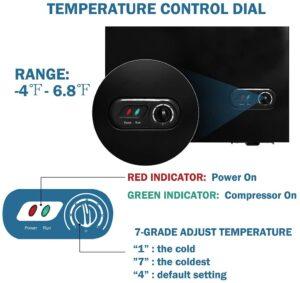 ADT Chest Freezer top door temp control
