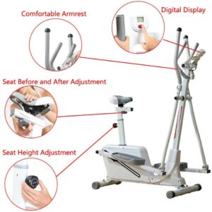 Baohooya Portable Elliptical Training Machine 300lb.