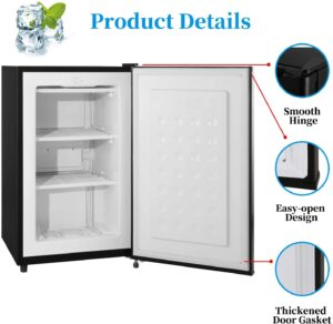 RMYHOME 2.3 Cu.ft Compact Upright Single Door Freezer